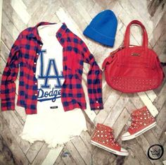 You are in the right place about baseball game outfits fall Here we offer you the m Baseball Game Fashion, Baseball Game Outfits, Baseball Girls, Summer Fashion Outfits, Curvy Outfits, Sport Outfits, Casual Outfits, Women's Fashion, Dodgers Outfit