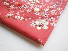 Japanese Cotton Fabric Kimono 1Meter  Lovely Pink by PeacyStudio