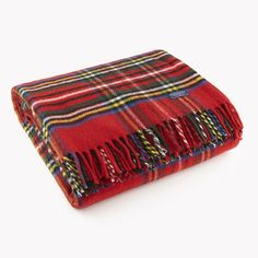 Faribault Royal Carefree Stewart Wool Throw. This would make the perfect gift for ME! hahaha!