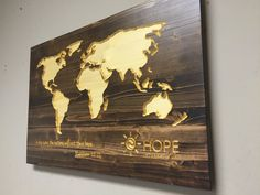 Howdy Owl Signs: Business Gift idea, International Company, Corporate gift, Wood CARVED World Map, Custom Business Sign, Wooden Map, Wood Wall Art, Stained by HowdyOwl on Etsy