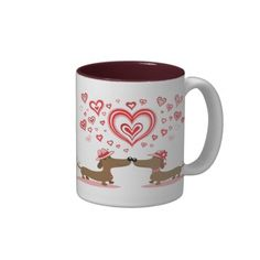 Valentine Dachshunds Coffee Mug