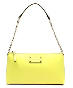 Look at this Kate Spade Neon Yellow Byrd Wellesley Firefly Leather Shoulder Bag on #zulily today!