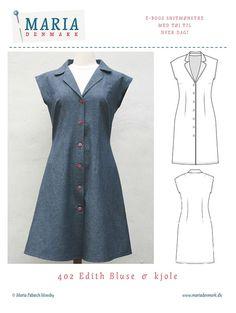 Så er der 50'er inspireret kjole mønster! Sy selv kjolen med dette mønster med detaljeredeinstruktioner i den medfølgende sy e-bog. Køb nu, sy om 1 time!