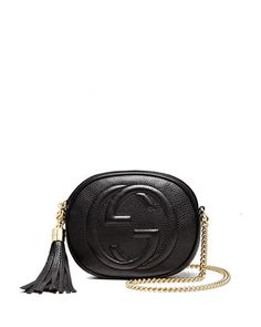 Soho Leather Mini Chain Bag, Black by Gucci at Neiman Marcus.
