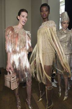 Ralph & Russo at Couture, Fall 2017 - The Most Beautiful Backstage Photos From Paris Couture Week - Photos