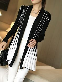 d65ae40954996 Crochet White Lace Hollow Out Knitted Cardigan Blouse - Uniqistic.com Long  Sweater Coat
