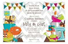 @Courtney Baker Whitmore Pizzazzerie Picks - Team Shower Invitation from @Inviting Company.