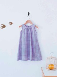 FREE A-Line Sleeveless Dress for Girls pdf sewing pattern - Craftfoxes