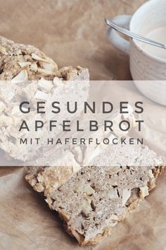 Recipe: Healthy apple bread with almonds and oatmeal (vegan) - Rezept: Gesundes Apfelbrot mit Mandeln und Haferflocken (vegan) Apple bread with oatmeal and almonds – healthy and delicious! Apple Recipes, Sweet Recipes, Vegan Recipes, Bread Recipes, Healthy Cake, Healthy Baking, Sweet Bread Meat, Food Tags, Vegan Sweets