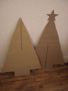 Une déco de Noël pour moins de 20 € #2 : un sapin tout-en-carton - Culture-confiture