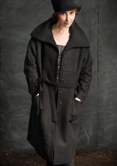 Yksivärinen takki villaa/polyamidia – Midvinter – GUDRUN SJÖDÉN - vaatteita verkossa ja postimyynnissä