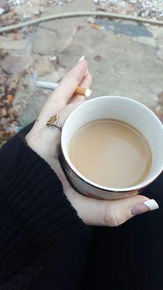 Coffee and cigs,  ♢♡♤♧ 😍 my photo credits to : Jenniferbennett