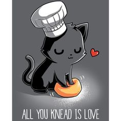 All You Knead Is Love ($12) ❤ liked on Polyvore featuring tops, t-shirts, graphic design t shirts, graphic tees, gray graphic tee, graphic t shirts and grey tee
