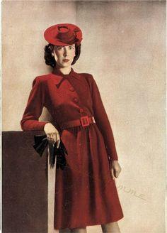Free Knitting Pattern: Shirtwaist Dress from Vogue's 23rd Knitting Book (1940s) | Subversive Lesbian Anarchic Femme! | Bloglovin'