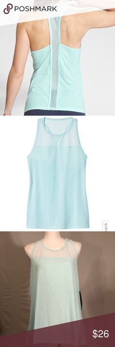 "Athleta Light Blue Airy Essence Tank Top Athleta Light Blue Airy Essence Tank Top. Light blue, aqua color with white mesh. Semi-fitted, skims over body. Barely there tank has mesh so you can stay cool with ventilation. Stretchy material. Unstinkable material, wicking ability. Breathable, lightweight, and soft. Size XL. NWT, new with tags. Measurements taken laid flat. 21"" bust, 27"" length. Athleta Tops Tank Tops"