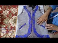 Beautiful & Designer full size jacket cutting and stitching