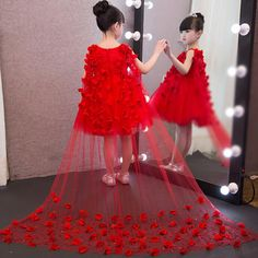 Cheap girls lace dress, Buy Quality dress children directly from China kids gown Suppliers: Flower Girl Lace Dress Children Red White Mesh Trailing Butterfly Girls Wedding Dresses Piano Playing Party Kids Gown Clothing Red Dresses For Kids, African Dresses For Kids, Wedding Dresses For Kids, Princess Flower Girl Dresses, Princess Dress Kids, Girls Lace Dress, Girls Pageant Dresses, Girls Formal Dresses, Gowns For Girls