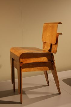 Molded Plywood Stacking Chairs for Isokon, 1936. The british were too traditional for metal furniture and requested he make them in wood instead.