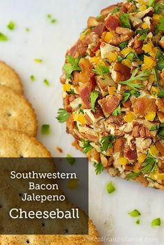 Here's a fun appetizer recipe with delicious fresh bacon, cheese, and pecan flavors. Make a Southwestern Bacon Jalapeno Cheeseball for your party guests!