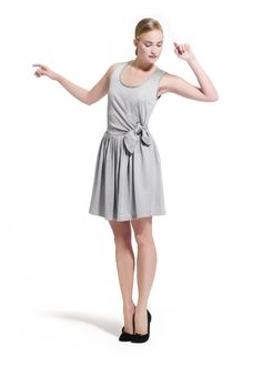 Wrap-over dress in silvery jersey by Repetto - Collection spring-summer 2013