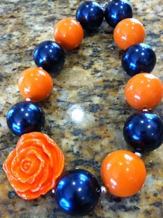 Auburn Game Day Chunky Beaded Necklace