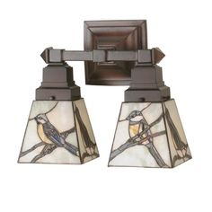 12-Inch Early Morning Visitors Two-Light Wall Sconce