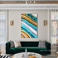 Framed Wall Art Abstract Seascape epoxy Resin Geode Crystal   Etsy Blue Painting, Painting Frames, Frames On Wall, Framed Wall Art, Large Wall Pictures, Mountain Art, Acrylic Pouring, Large Art, Resin Art