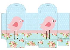 Pink Bird in Shabby Chic: Free Printable Invitations and Boxes. Eid Crafts, Diy Arts And Crafts, Home Crafts, Paper Crafts, Free Printable Invitations, Party Printables, Free Printables, Shabby Chic Invitations, Baby Shower Invitations