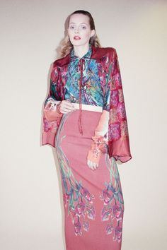 Marguerite's Menagerie A/W 2012 #HdeP #HermionedePaula  #floral  #colpourful #japanesestyle #Japan #kimono #silk #silky #printed