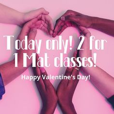 Want to bring a friend to class today! Just go online or visit the front desk and ask for our 2 for 1 mat class special! Today only! Personal Training Studio, Bring A Friend, Buddy Workouts, Go Online, Front Desk, Happy Valentines Day, Just Go, Maui, Pilates