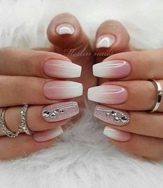25 hottest nude nails design in 2019 - page 6 of 8 . , 25 hottest nude nails design in 2019 - page 6 of 8 / A . Nail Designs Spring, Nail Art Designs, Cute Nails, Pretty Nails, Nagel Bling, Nagellack Trends, Bride Nails, Nagel Gel, Nail Polish Colors