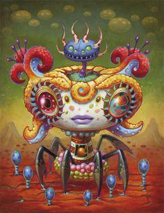 yoko-d-holbachie-painting-art-illustration-colorful-beast-creature