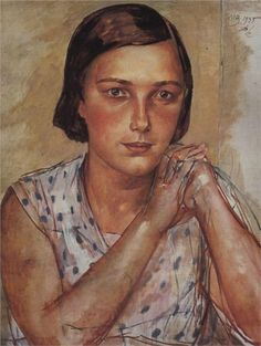 Portrait of the artist's daughter, 1935  Kuzma Petrov-Vodkin
