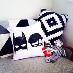 Little Pop Studio Batboys Cushion Cover | Scandinavian Minimall