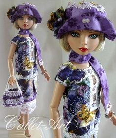 "2013 Tonner Wilde Imagination Ellowyne Wilde Prudence Moody Imperium Park OOAK Fashion Outfit ""Simply Summer"" by Collet-Art 