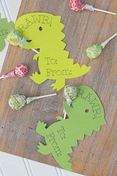 Dinosaur Classroom Valentines with Cricut, an easy DIY craft idea for Valentine's Day