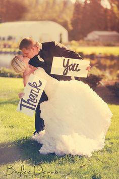 Megan & Jordan Thank You by wakeupbaylee, via Flickr #wedding #thankyou #couple #love