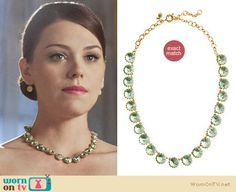 AnnaBeth's green J. Crew necklace from this week's Hart of Dixie http://wornontv.net/10745