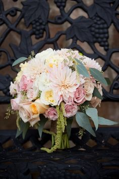 pastel pink soft baby pink wedding bouquet