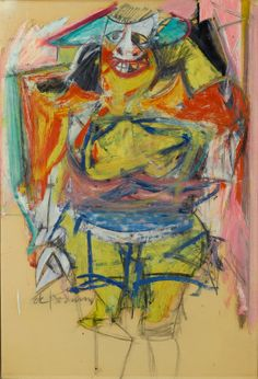 """Woman"" by Willem de Kooning    brooklynmuseum.org"