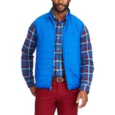 Big & Tall Chaps Packable Quilted Vest, Men's, Size: Xl Tall, Blue