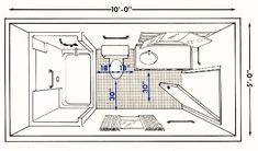 Vloerplan badkamer