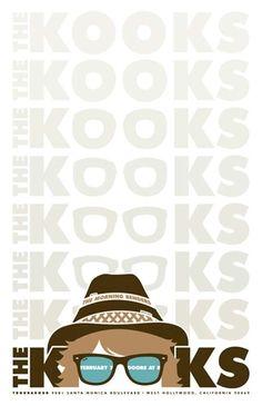 concert poster for the kooks Creative Poster Design, Creative Posters, Cool Posters, Poster Designs, The Kooks, Rock Roll, I Love Music, Good Music, Punk Rock