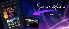 Win a $100 Amazon Gift Card Or A Kindle! http://genrebuzz.com/100-or-kindle-fire-prize-social-media-giveaway/