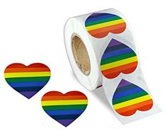 Gay Pride Rainbow Stickers on a Roll – Heart Shaped (500 Stickers) – Support The LGBT Cause Review
