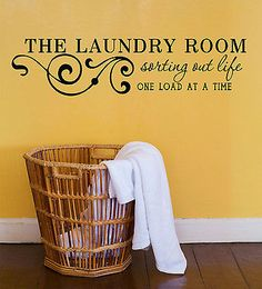 The Laundry Room Vinyl Wall Decal