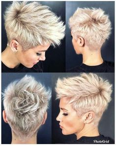 26 Easy Short Pixie Cuts for Chic Ladies When it comes to choosing the perfect s. - My list of women's hairstyles Short Mohawk, Short Pixie Haircuts, Pixie Hairstyles, Short Hairstyles For Women, Short Hair Cuts, Cool Hairstyles, Pixie Mohawk, Short Undercut, Haircut Short