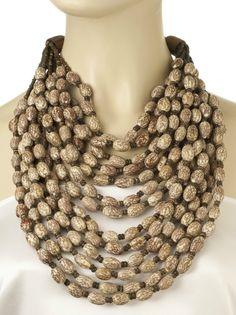 Necklace of legendary style icon Iris Apfel.