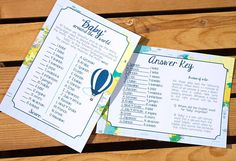 """Baby Shower Game - Have your guests match the language to the correct pronunciation of the word """"Baby"""". Looking to see this in your baby shower theme? Contact us today"""