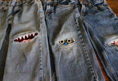 comment réparer un jean troué au genou...